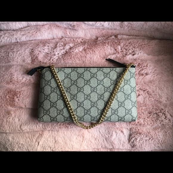 fa7df7209 Gucci Bags | Authentic Gg Supreme Canvas Wrist Wallet | Poshmark
